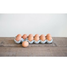 Creative Co-op Stoneware Egg Holder