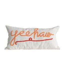 Creative Co-op Yeehaw Pillow