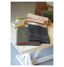 Kalalou Cotton Blend Blanket, Green