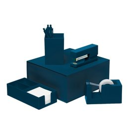 Talking Out Of Turn Desk Set - Navy Blue