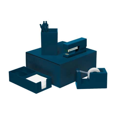 Talking Out Of Turn Desk Set Navy Blue
