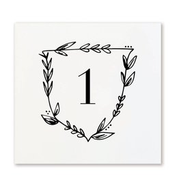 Page Stationery Table Numbers, 1-12