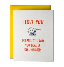 Ladyfingers Letterpress I Love You Despite