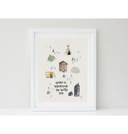 In the Daylight Home is Wherever Print