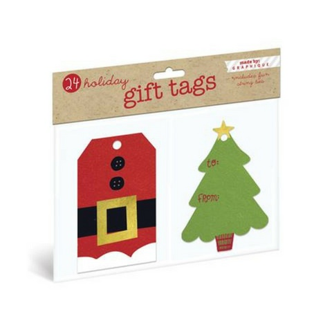 Graphique Christmas Eve Gift Tags