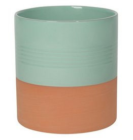 Now Designs Terracotta Sea Mist Utensil Crock