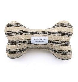 The Foggy Dog Ticking Stripe Dog Bone