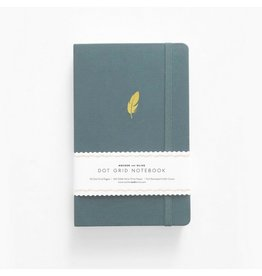 Archer and Olive Floating Feather Journal, Dot Grid