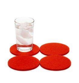 Graf Lantz Felt Coasters, Orange