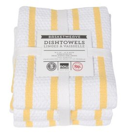 Now Designs Basketweave Lemon, Set/3