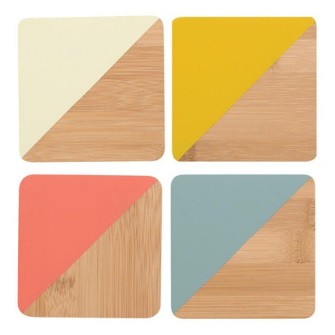 Now Designs Coaster Dipped Angle Sienna, Set/4