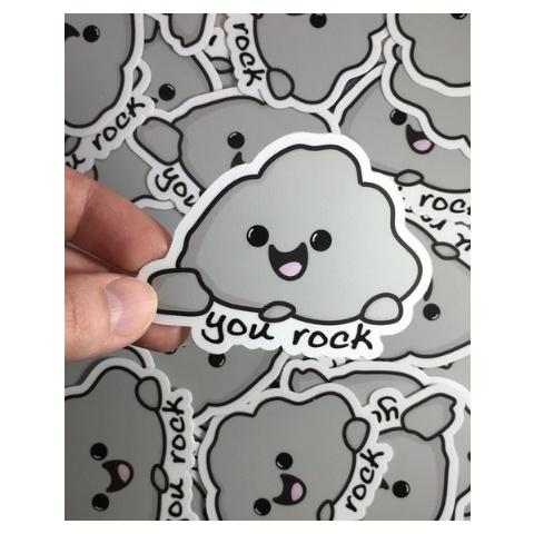 Andrea K Doodles You Rock Sticker