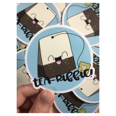Andrea K Doodles Tea-Riffic Sticker