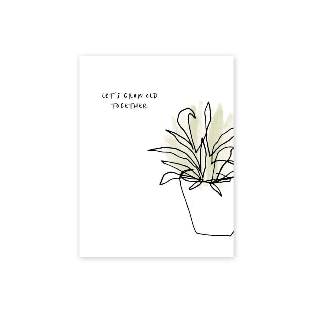 Page Stationery Grow Old Card