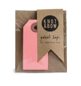 Knot and Bow Pink Parcel Tags