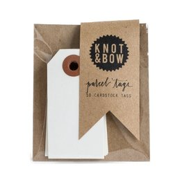 Knot and Bow White Parcel Tags