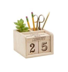 Ore Originals Wooden Calendar Caddy