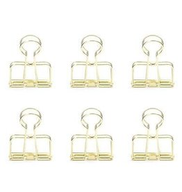Kikkerland Gold Wire Clips