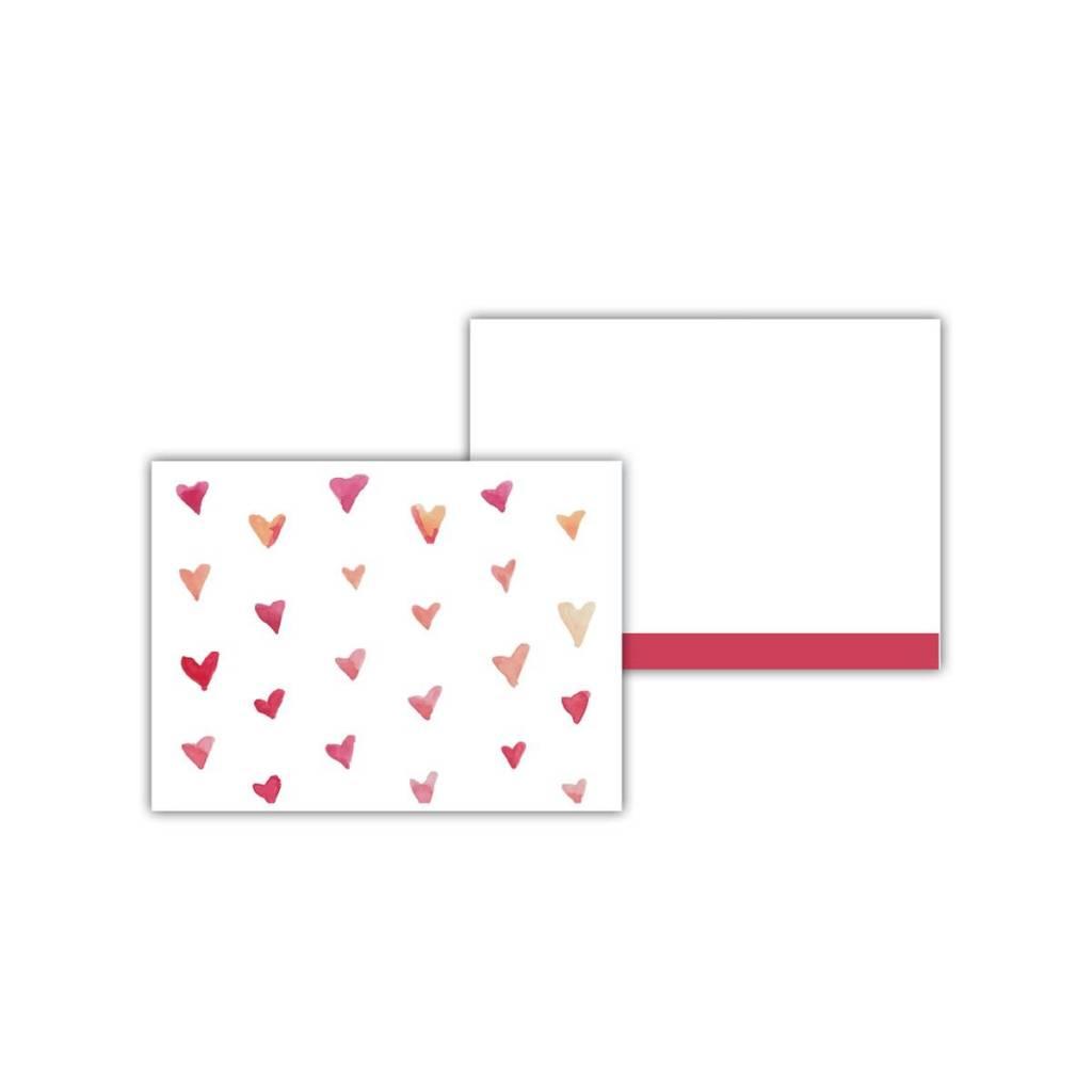 Doe A Deer Watercolor Hearts Card