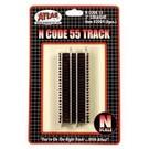 "Atlas Atlas  Code 55  3"" Straight Track  6pc  2004"
