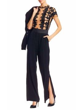 Nicole Miller Slit Trousers Black