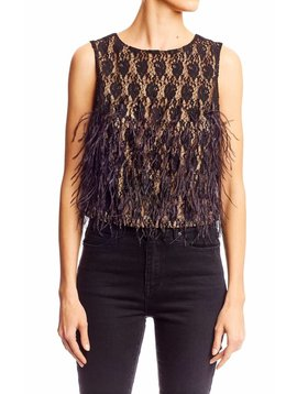 Nicole Miller Feather Shell Top