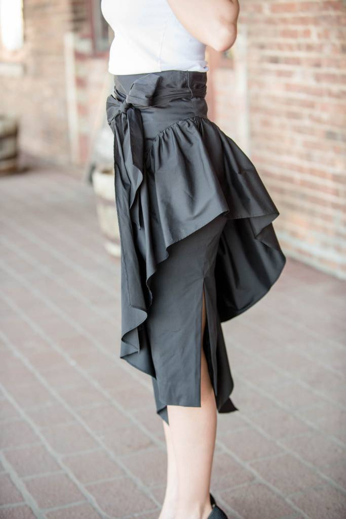Milly Cascade Tie Skirt