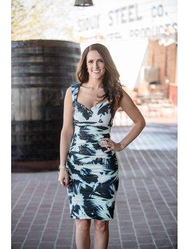 Nicole Miller Brooke Fan Burst Dress