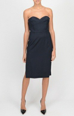 MILLY Italian Wool Gabardine Alix Dress
