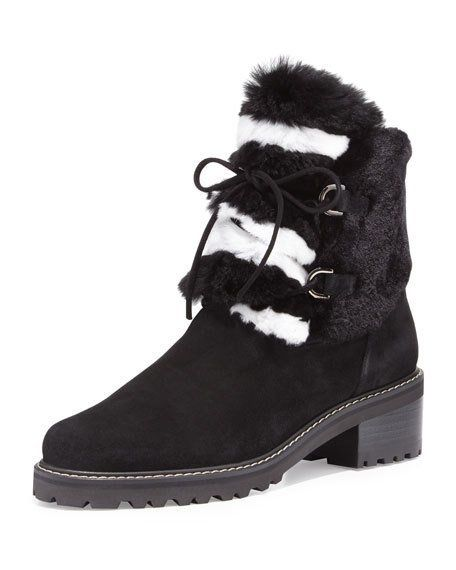STUART WEITZMAN Furnace Boots Black