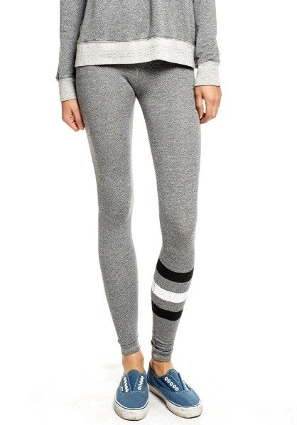 SUNDRY Heather Grey Stripe Yoga Pant