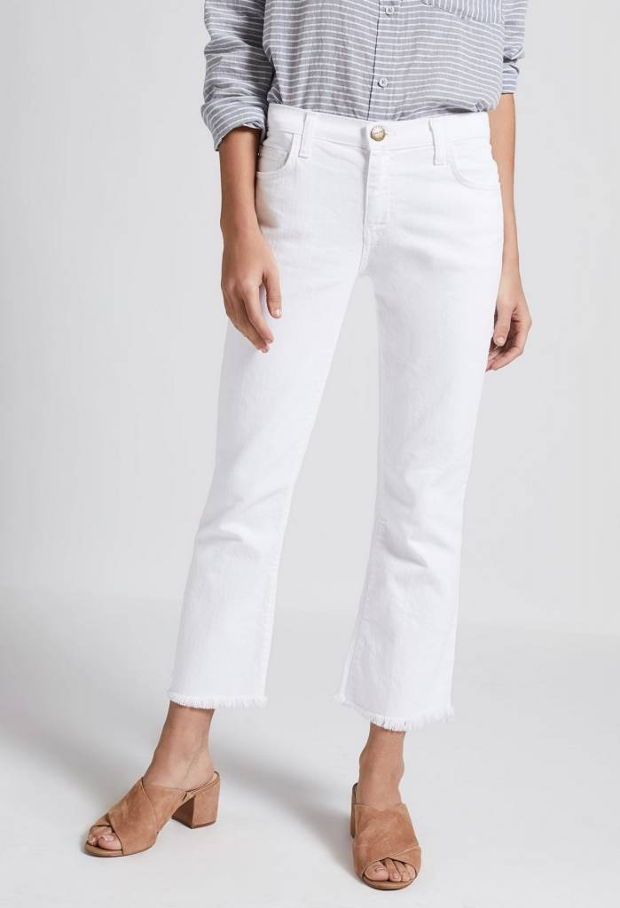 Current Elliot The Cropped Flip Flop Jean in Sugar
