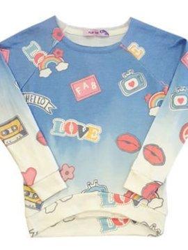 Vintage Haviana Dip Dye Retro Pullover