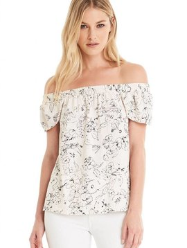 Michael Stars Off The Shoulder Pedal Tee
