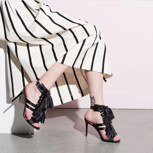 Twin Set Nero Stone Sandal