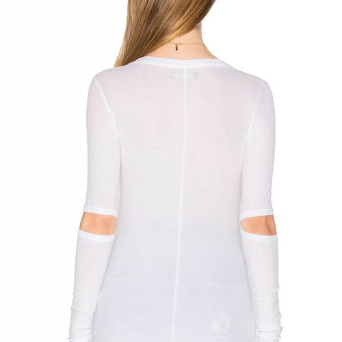 Michael Lauren Solomon Long Sleeve Fitted Tee