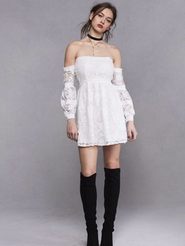For Love & Lemons Jolene Off Shoulder Dress
