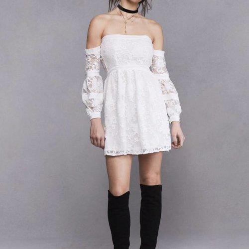 For Love & Lemons Jolene Off Shoulder Dress