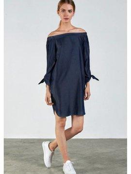 Charli Off Shoulder Chambray Dress