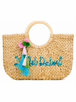 MACBETH COLLECTION STRAW TOTE