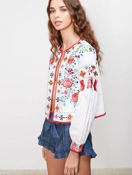 MISA Valentina Floral Embroidered Jacket
