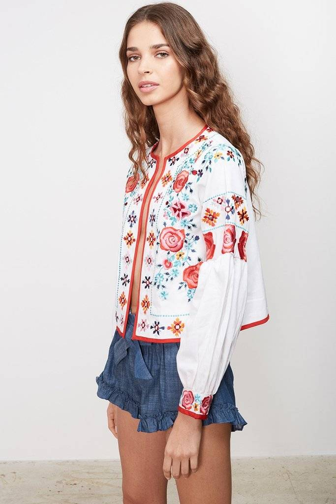 MISA Valentina Floral Embroidered Jacket