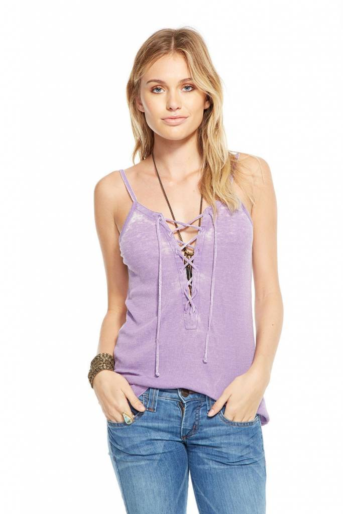 Chaser Rib Lace Up Cami