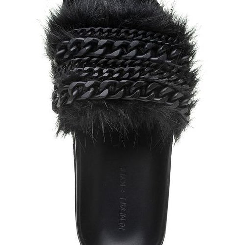 Kendall + Kylie Sammy Slide w fur