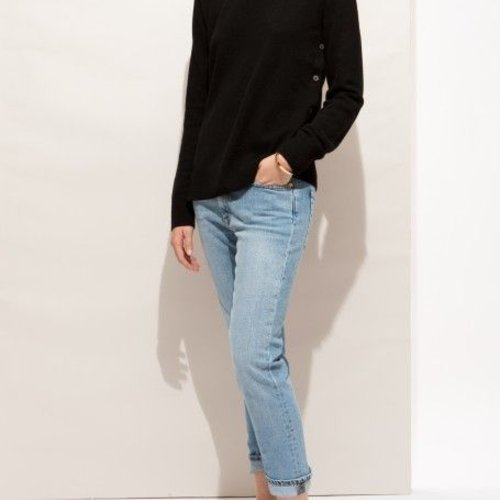 Equipment Jenny Crew Black Sweater