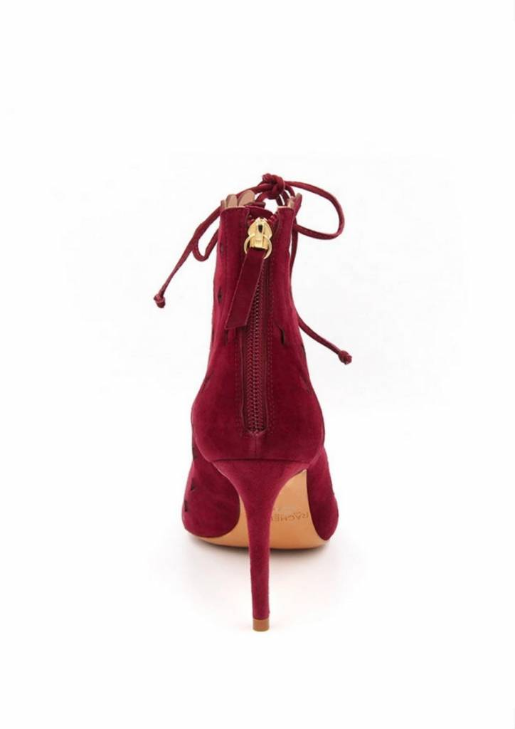 RACHEL ZOE Ashlyn Peep Toe Bootie in Ruby