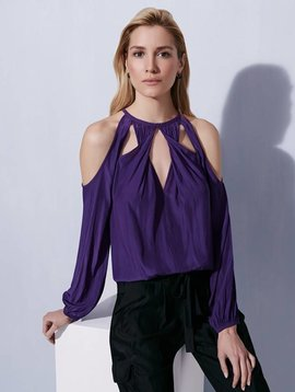 Ramy Brook Amanda Top in Purple Iris