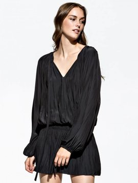 Ramy Brook Paris V Neck Dress in Black