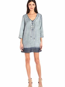 Michael Stars Raw Hem Lace Up Dress