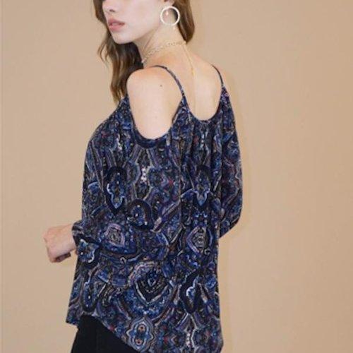 Veronicam Cold Shoulder Bell Sleeve Giselle